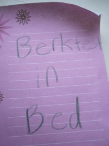 Berkfest in Bed, please?